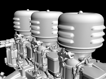 3×2 stromberg chevrolet v8 engine 3d model 3ds 88036