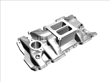 4 barrel intake manifold 3d model 3ds dxf 99070