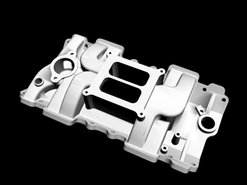 4 barrel intake manifold 3d model 3ds dxf 99071