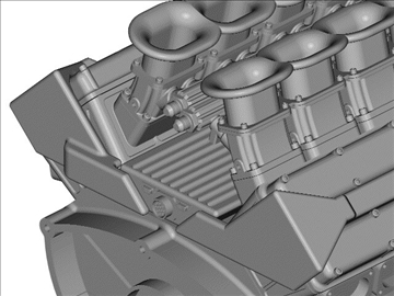 4 cam race engine 3d model 3ds dxf 99039