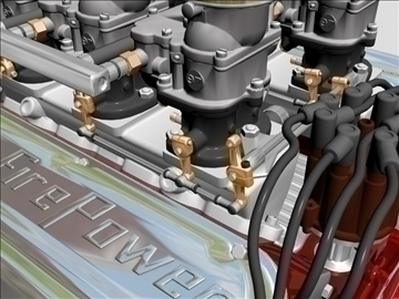 6 x 2 stromberg hemi v8 engine 3d model 3ds dxf 109563