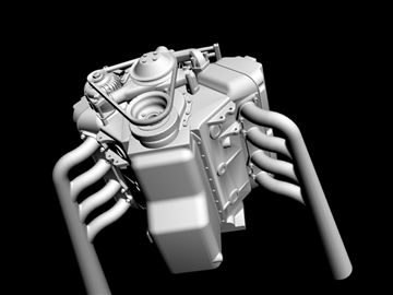 6 x 2 stromberg hemi v8 engine 3d model 3ds dxf 109570