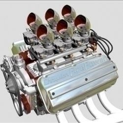 6 X 2 Stromberg Hemi V8 Engine ( 64.67KB jpg by ajwheels )