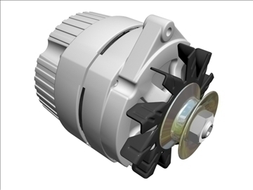 alternator 3d model 3ds dxf 110927
