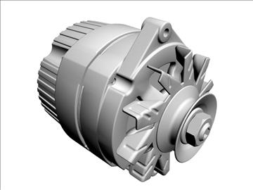 alternator 3d model 3ds dxf 110928
