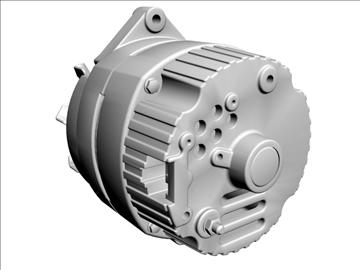 alternator 3d model 3ds dxf 110929