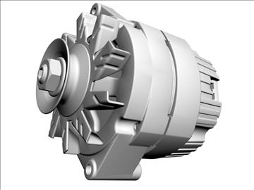alternator 3d model 3ds dxf 110930
