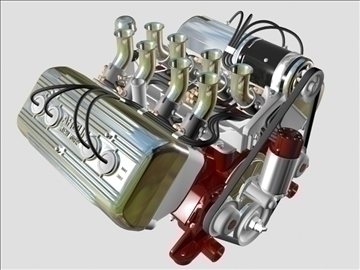 ardun flathead v8 engine 3d model 3ds dxf 98992