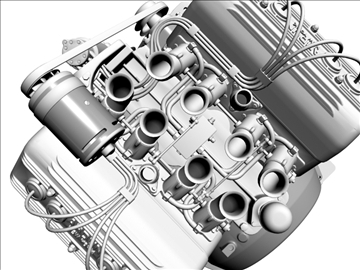 ardun flathead v8 engine 3d model 3ds dxf 98995
