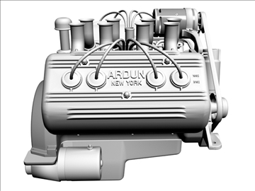 ardun flathead v8 engine 3d model 3ds dxf 98996