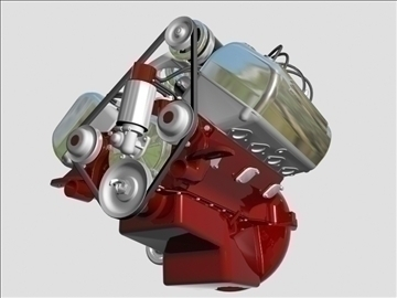 ardun flathead v8 engine 3d model 3ds dxf 98998