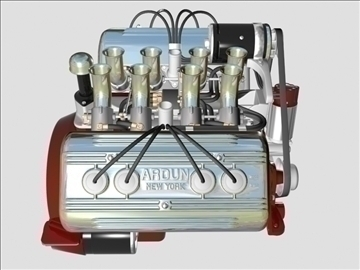 ardun flathead v8 engine 3d model 3ds dxf 99000