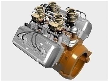 ardun stromberg v8 engine 3d model 3ds dxf 99341