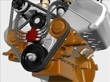 ardun stromberg v8 engine 3d model 3ds dxf 99343