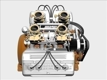 ardun stromberg v8 engine 3d model 3ds dxf 99344