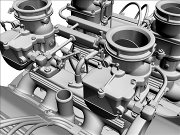 ardun stromberg v8 engine 3d model 3ds dxf 99346