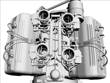 ardun stromberg v8 engine 3d model 3ds dxf 99348