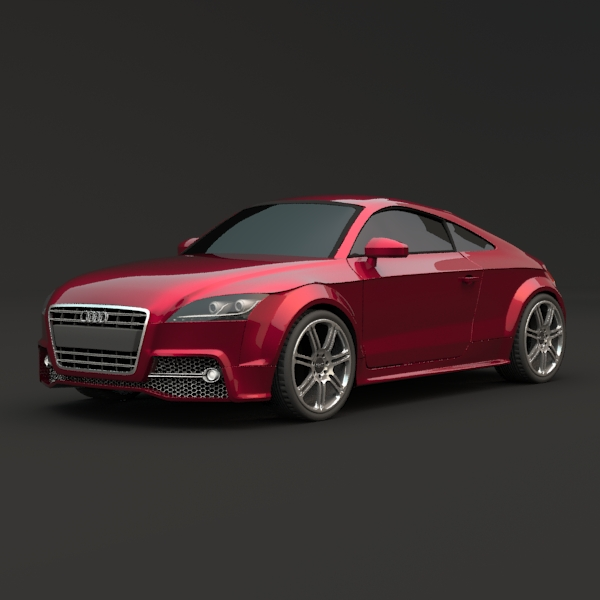 audi tts coupe car 3d model 3ds fbx blend lwo obj 112398