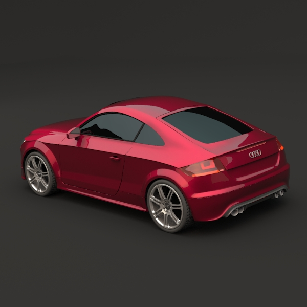 audi tts coupe car 3d model 3ds fbx blend lwo obj 112399