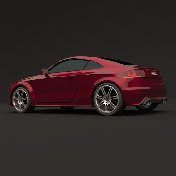 audi tts coupe car 3d model 3ds fbx blend lwo obj 112400