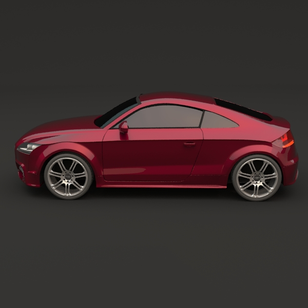 audi tts coupe car 3d model 3ds fbx blend lwo obj 112401