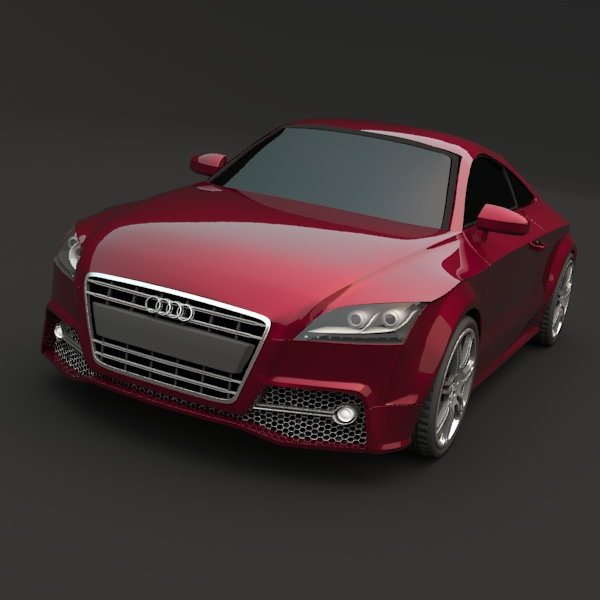 audi tts coupe car 3d model 3ds fbx blend lwo obj 112402