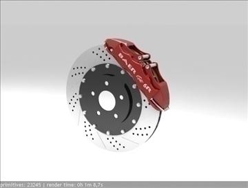 baer 6r brake system 3d model 3ds max dxf fbx c4d skp obj 111381