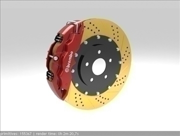 Brembo Brake Model 1 3d 3ds max fbx c4d obj 111391