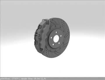 brembo brake 1 3d model 3ds max fbx c4d obj 111392