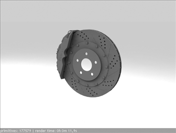 brembo brake 1 3d model 3ds max fbx c4d obj 111395