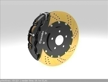 brembo brake 1 3d model 3ds max fbx c4d obj 111398