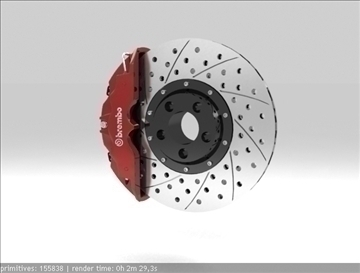 brembo brake 3d model 3ds max fbx c4d obj 111377