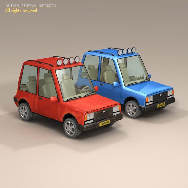 Cartoon Suv Flatpyramid