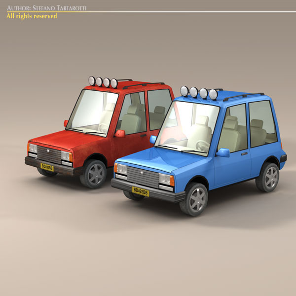 cartoon suv 3d model 3ds dxf fbx c4d dae obj 118742