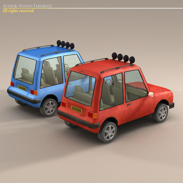 cartoon suv 3d model 3ds dxf fbx c4d dae obj 118743