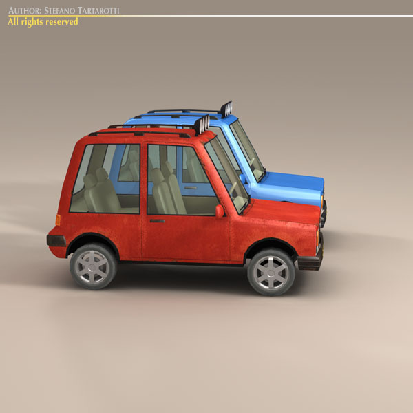 cartoon suv 3d model 3ds dxf fbx c4d dae obj 118745