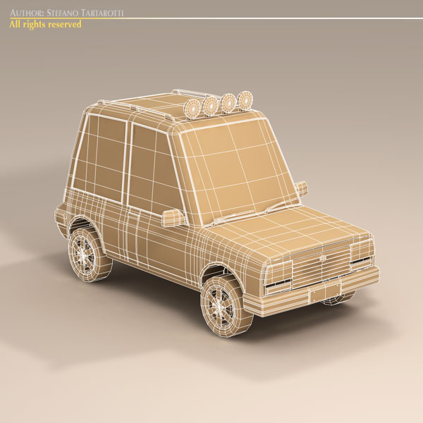 cartoon suv 3d model 3ds dxf fbx c4d dae obj 118746