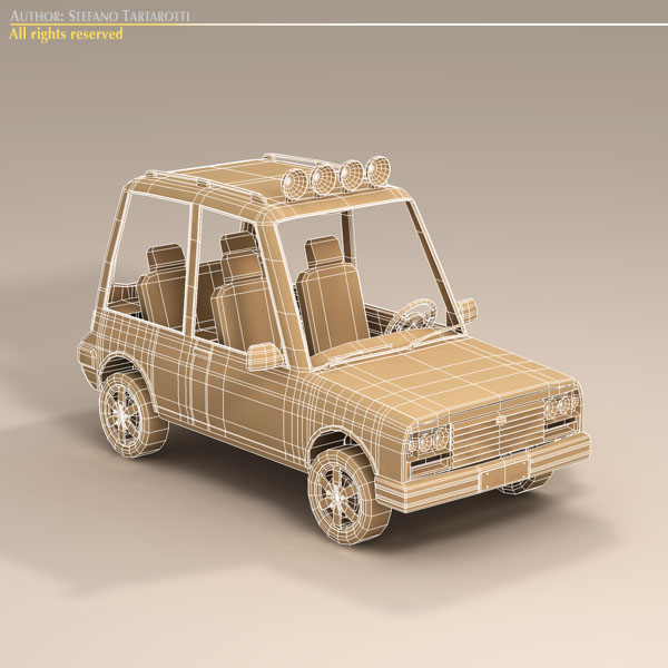 cartoon suv 3d model 3ds dxf fbx c4d dae obj 118747