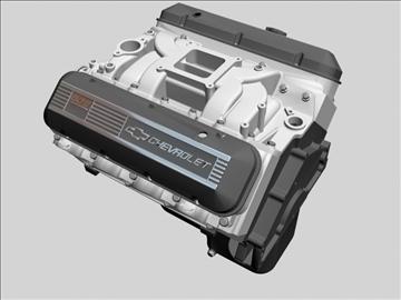 chevrolet big block v8 engine 3d model 3ds dxf 96372