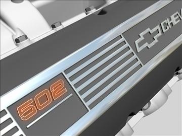 chevrolet big block v8 engine 3d model 3ds dxf 96374