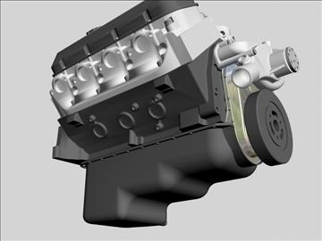 chevrolet big block v8 engine 3d model 3ds dxf 96375
