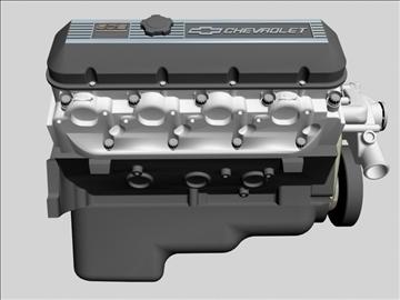 chevrolet big block v8 engine 3d model 3ds dxf 96376