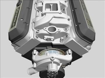 chevrolet big block v8 engine 3d model 3ds dxf 96377
