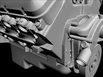 chevrolet big block v8 engine 3d model 3ds dxf 96379
