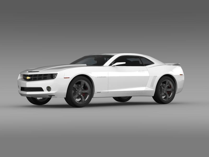chevrolet camaro concept 3d model 3ds max fbx c4d lwo ma mb hrc xsi obj 143383