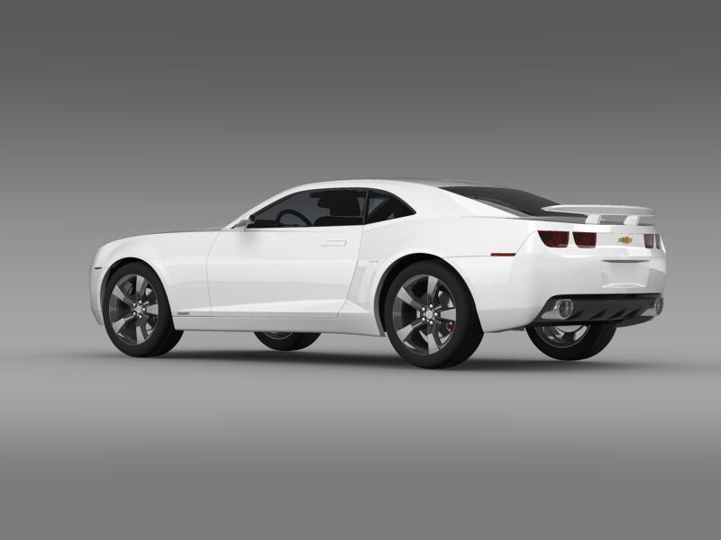 chevrolet camaro concept 3d model 3ds max fbx c4d lwo ma mb hrc xsi obj 143385