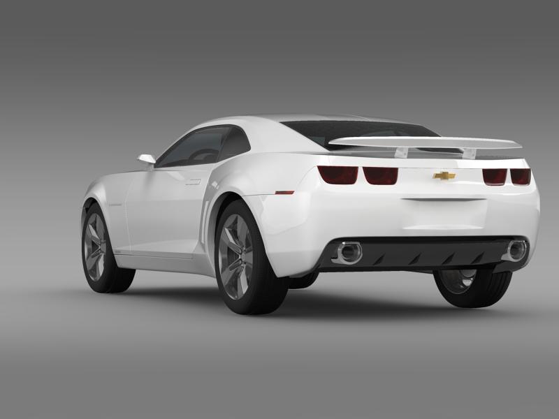 chevrolet camaro concept 3d model 3ds max fbx c4d lwo ma mb hrc xsi obj 143386