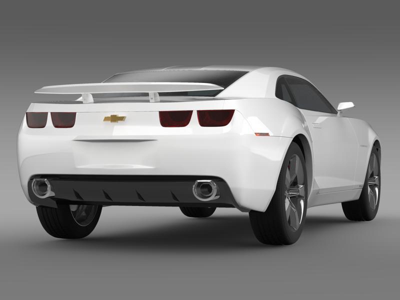 chevrolet camaro concept 3d model 3ds max fbx c4d lwo ma mb hrc xsi obj 143387