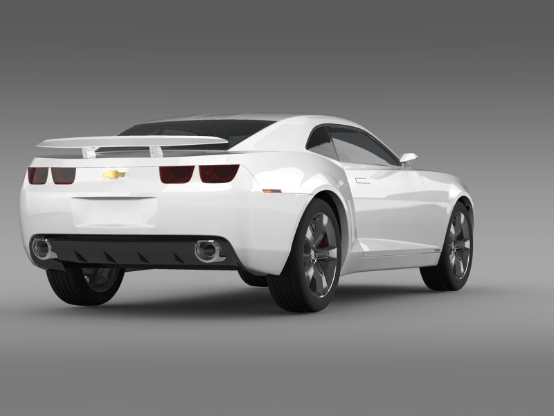 chevrolet camaro concept 3d model 3ds max fbx c4d lwo ma mb hrc xsi obj 143388
