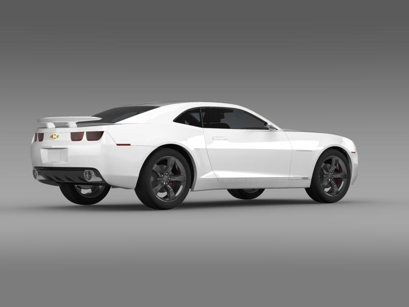 chevrolet camaro concept 3d model 3ds max fbx c4d lwo ma mb hrc xsi obj 143389